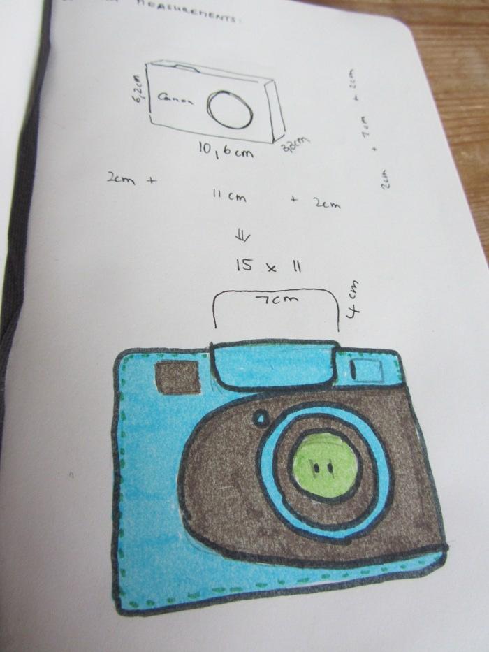 Sketch camera case