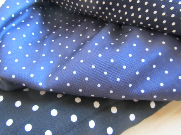 Dotted fabrics - I am not quite sure yet what to do with them