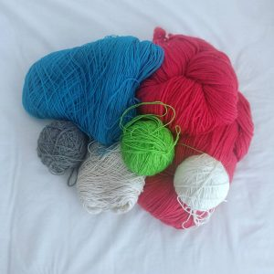Day 3 of iamknitterweek My travel stash Definitely more thanhellip